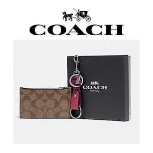 🆕 New in Box! Coach Wallet & Key Fob Gift Set